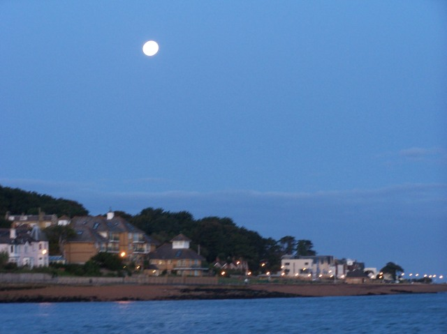 Moon over Cowes