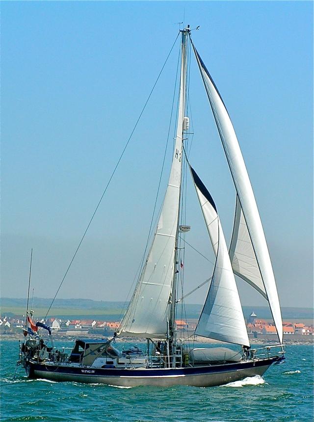 "De ""Wing IV"" onder vol tuig (voor Boulogne)"