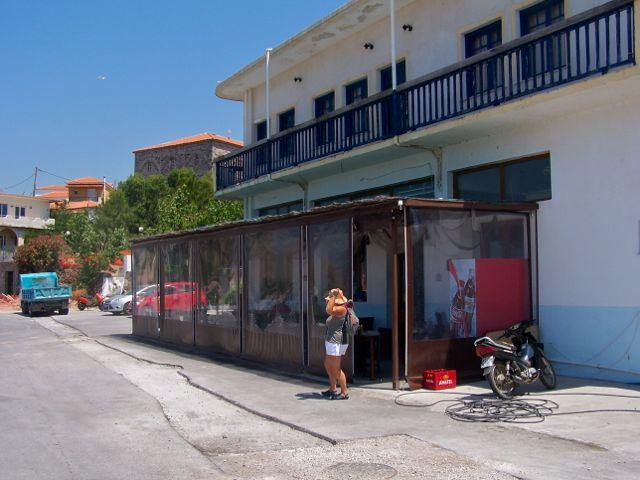 De buitenkant van het restaurant