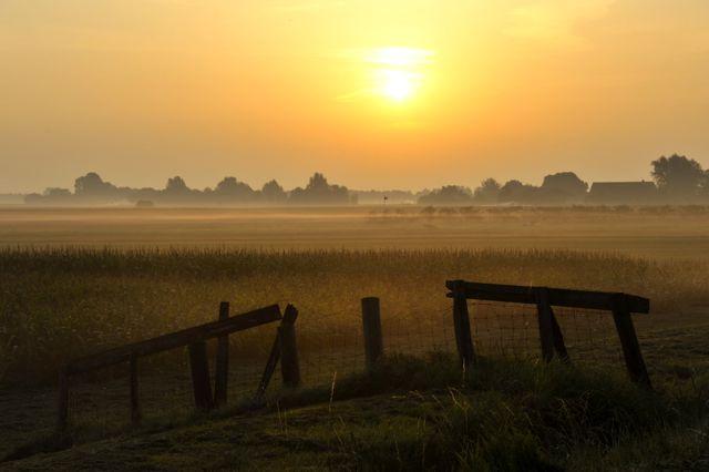 De Purmerpolder (hier bij zonsopgang) laten we een paar maanden voor wat ie is.