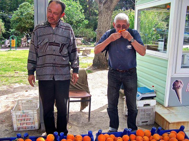 Sinaasappeltje proeven