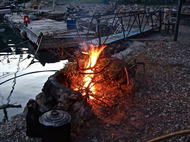 Het andere open vuur
