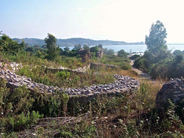 Resten van de Romeinse muur