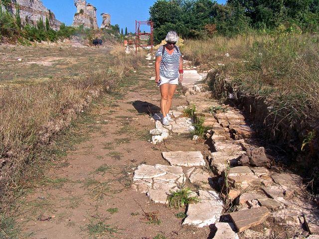 Een stuk van een Romeinse straat