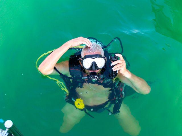 Klaar voor onder water