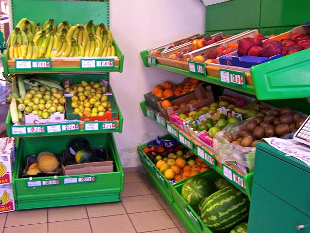 De groenten afdeling