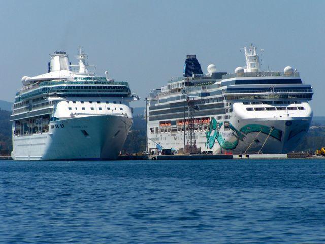De cruiseschepen hebben bijgedragen aan de drukte in de stad
