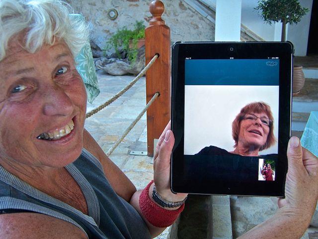 Ingeborg skypt met Olga, het ging net (niet)