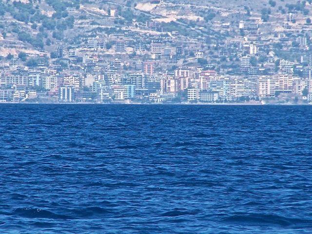 Een stad in Albanie