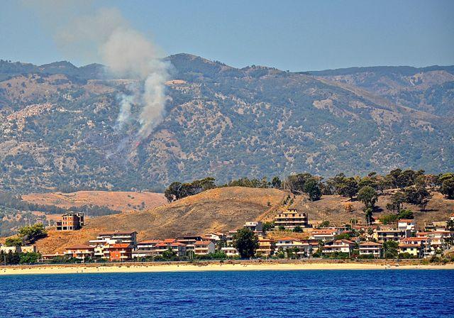 Ann en Cees zagen deze bosbrand geblust worden