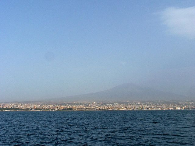 Een laatste blik op Catania en de Etna