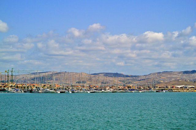 Dit is ook nog haven  van Licata, de andere kant van mijn standpunt op het schiereiland