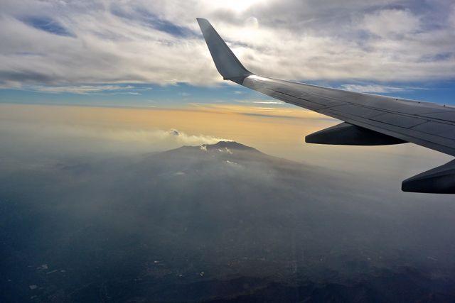 De Etna in volle vlucht