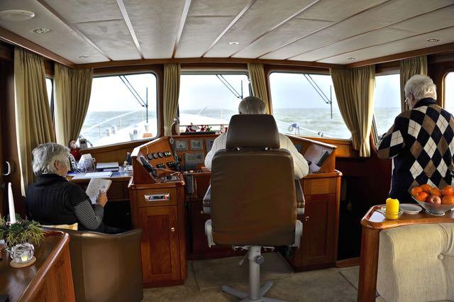 Willem in de cockpit
