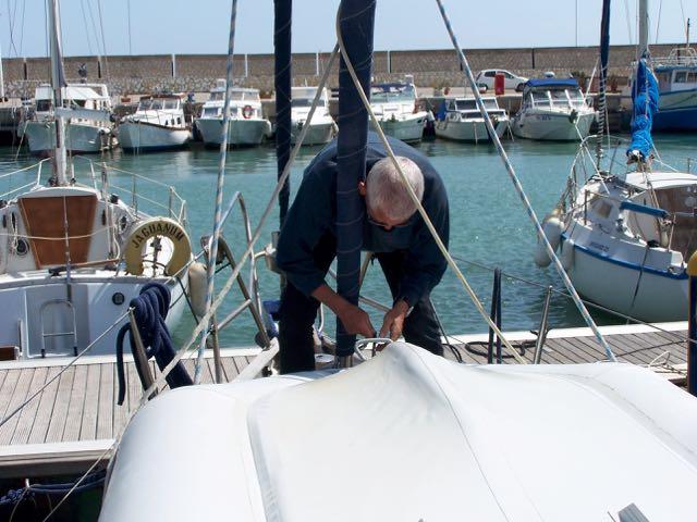 Rubberboot vastbinden