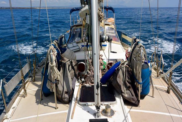 De boot naar achteren gezien