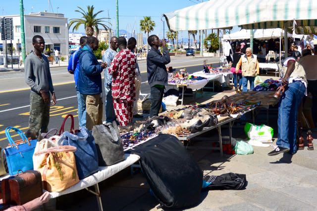 De markt was voornamelijk een Afrikaanse aangelegenheid