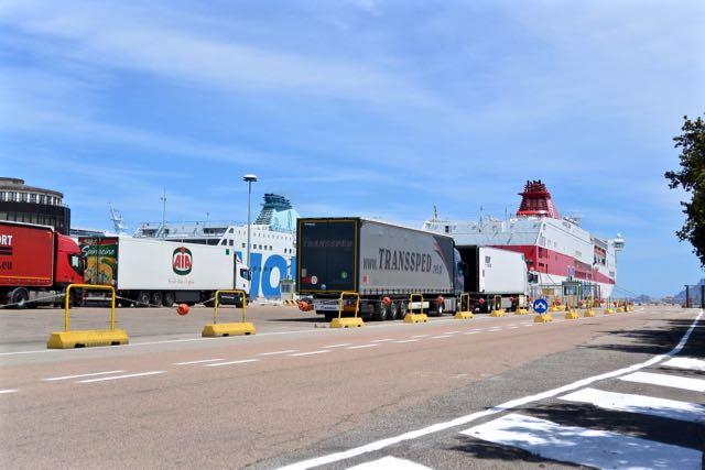 De ferry's liggen er nog