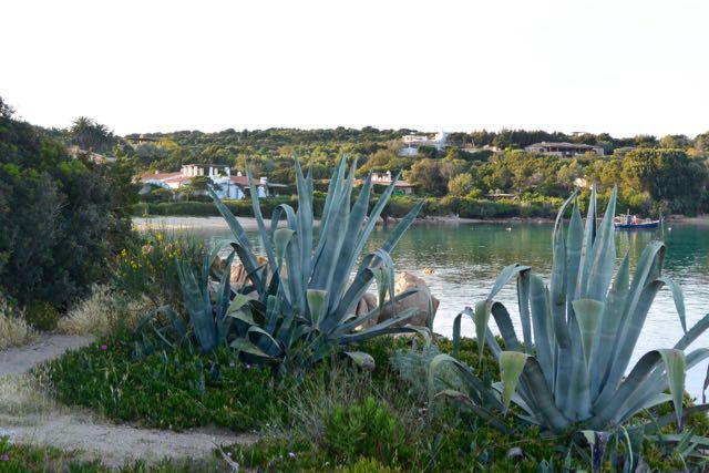 Een strandje naast de jachthaven