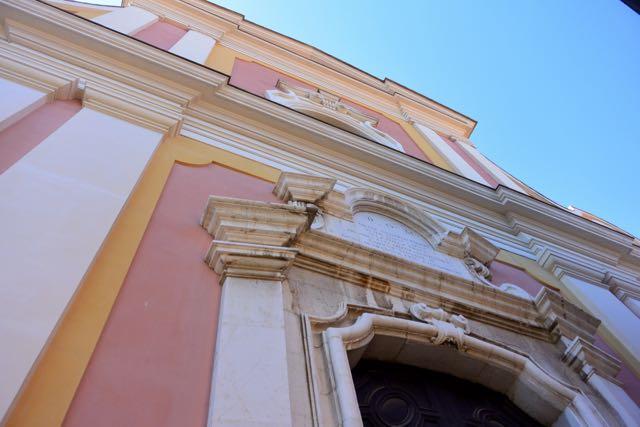 Gevel van de kerk