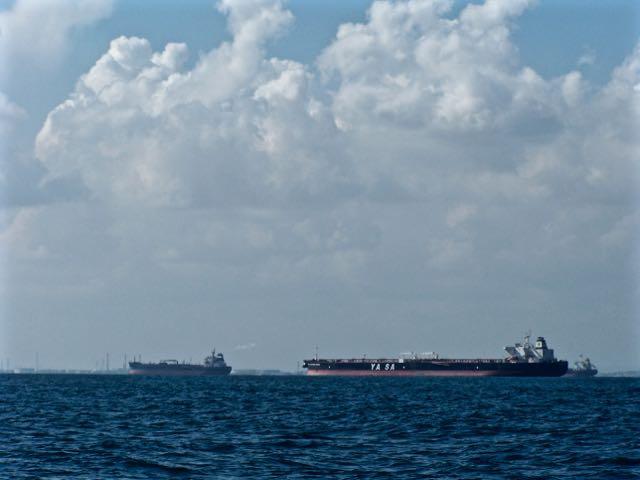 Veel schepen