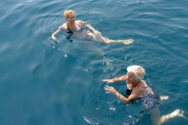 Even zwemmen, hoor!