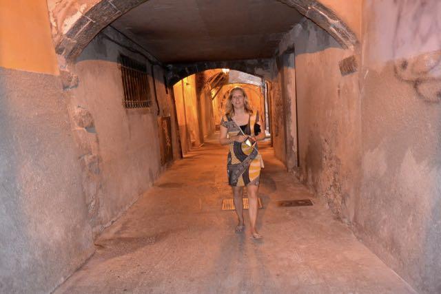 In de catacomben