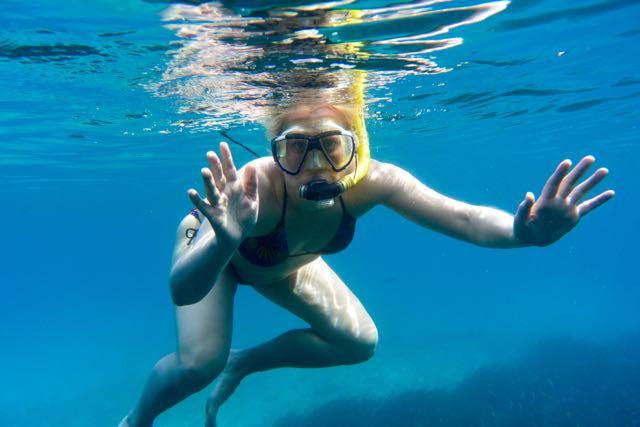 Zwaaien onder water