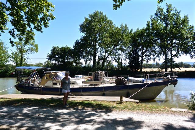 Ingeborg voor de boot