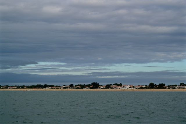 De zuidkust van Ile de Ree