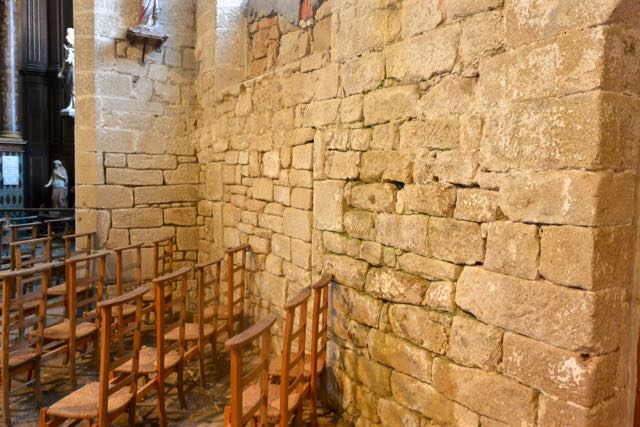 Erg oude muur, losse stijl