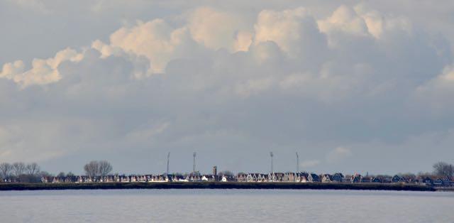 De skyline van Volendam